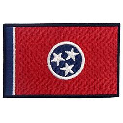 EmbTao Embroidered Tennessee State Flag Iron On Sew On Patch
