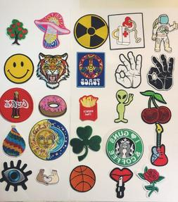 embroidery Patches Iron Sew On Patches transfers Badges appl