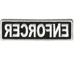"ENFORCER 3.5"" x 1"" iron on patch  Biker Club Rank Title"