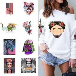 Fashion Patches Iron On Appliques DIY Printing Heat Transfer