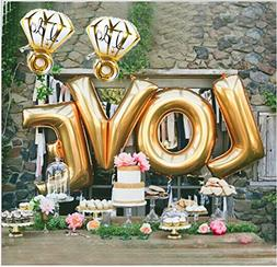 "Ruimeier Love  and ""I do"" Diamond Ring  Extra Large Balloon"
