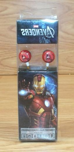 Genuine Marvel Avengers 3.5mm Jack Iron Man Red Ear Buds in