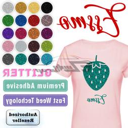 ESSMO™ Glitter Heat Transfer Vinyl HTV Sheet T-Shirt Iron