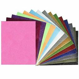"Fame Crafts Glitter Heat Transfer Vinyl , 12"" x 10"" 15-Color"