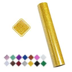VINYL FROG 9.8inch by 60inch Gold Glitter Iron on Heat Trans