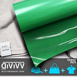 VViViD Green Heavy-Duty Iron-on Heat Transfer Vinyl Film 12""