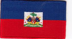 "Haiti Flag 2 1/2"" Iron On Embroidered Patch Flag of Haiti"