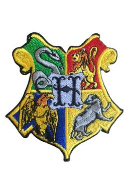 Harry Potter Hogwarts Crest Iron on/Sew on Embroidered Patch