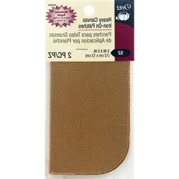 DRITZ HEAVY CANVAS GOLDEN LT. BROWN IRON ON PATCHES-Clothing