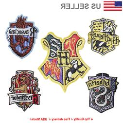 Hogwarts Embroidered Iron On / Sew On Patches Harry potter A
