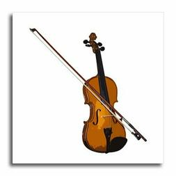 3dRose ht_1269_1 Violin Iron on Heat Transfer for White Mate
