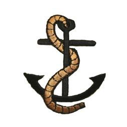 ID 0169 Nautical Ship Anchor Patch Boat Weight Rope Embroide