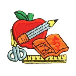 ID 0952 School Supplies Patch Children Education Embroidered