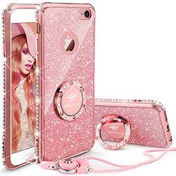 iPhone 6 6s Case, Glitter Cute Phone Case Girls with Kicksta