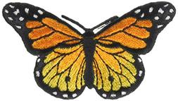 """Wrights Iron-On Appliques -Monarch Butterfly 3""""X1-3/4"""" 1/Pkg"""