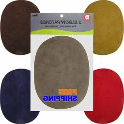 Iron-On Faux Suede, Denim Oval Elbow Repair Patches Compare