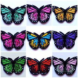 Iron On Patch Applique - Butterfly Monarch select color