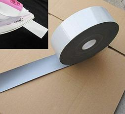 10 yds IRON ON Reflective Tape Light Weight Silver Reflectiv