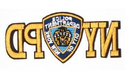 Iron/Sew on NYPD patch biker New York Police Department logo
