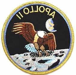 "J&C Family Owned NASA Apollo 11 Mision Patch/Applique 4"" Emb"