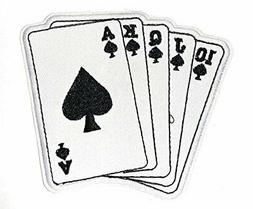 J and C Family Owned Playing Cards Royal Flush Spades Embroi
