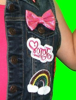 JoJo Siwa iron on patch ONLY.  Embroidered applique patch, l