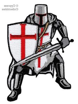 Knights Templar Armor Patch Embroidered Iron-On Religious Cr
