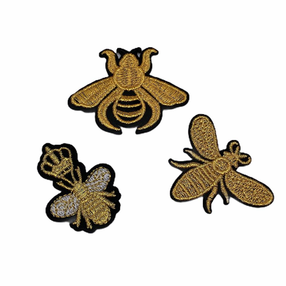 10pcs Crown Bee On Patches On