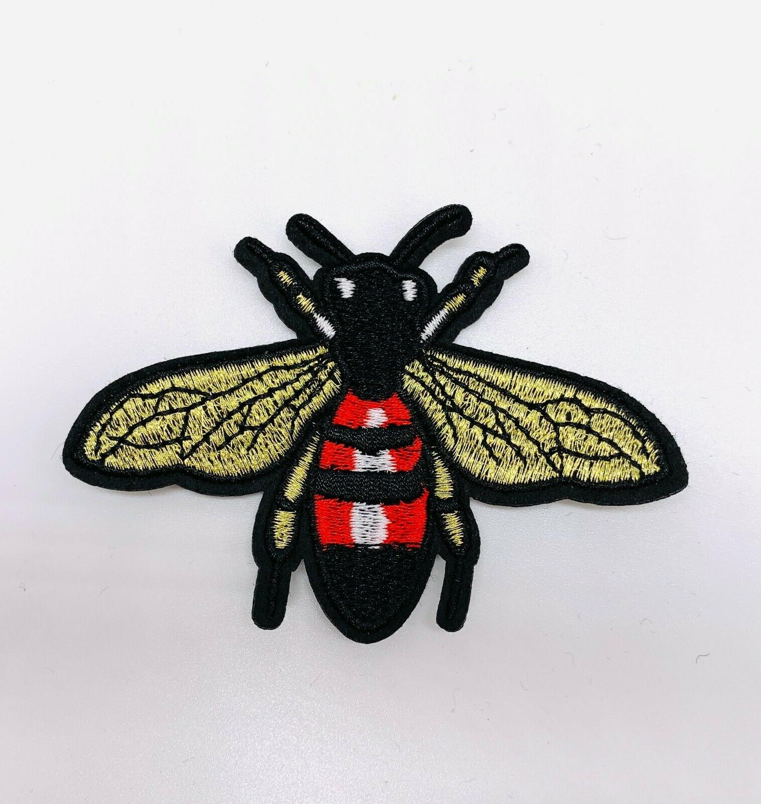 10pcs Crown Bee Iron Patches On Badge