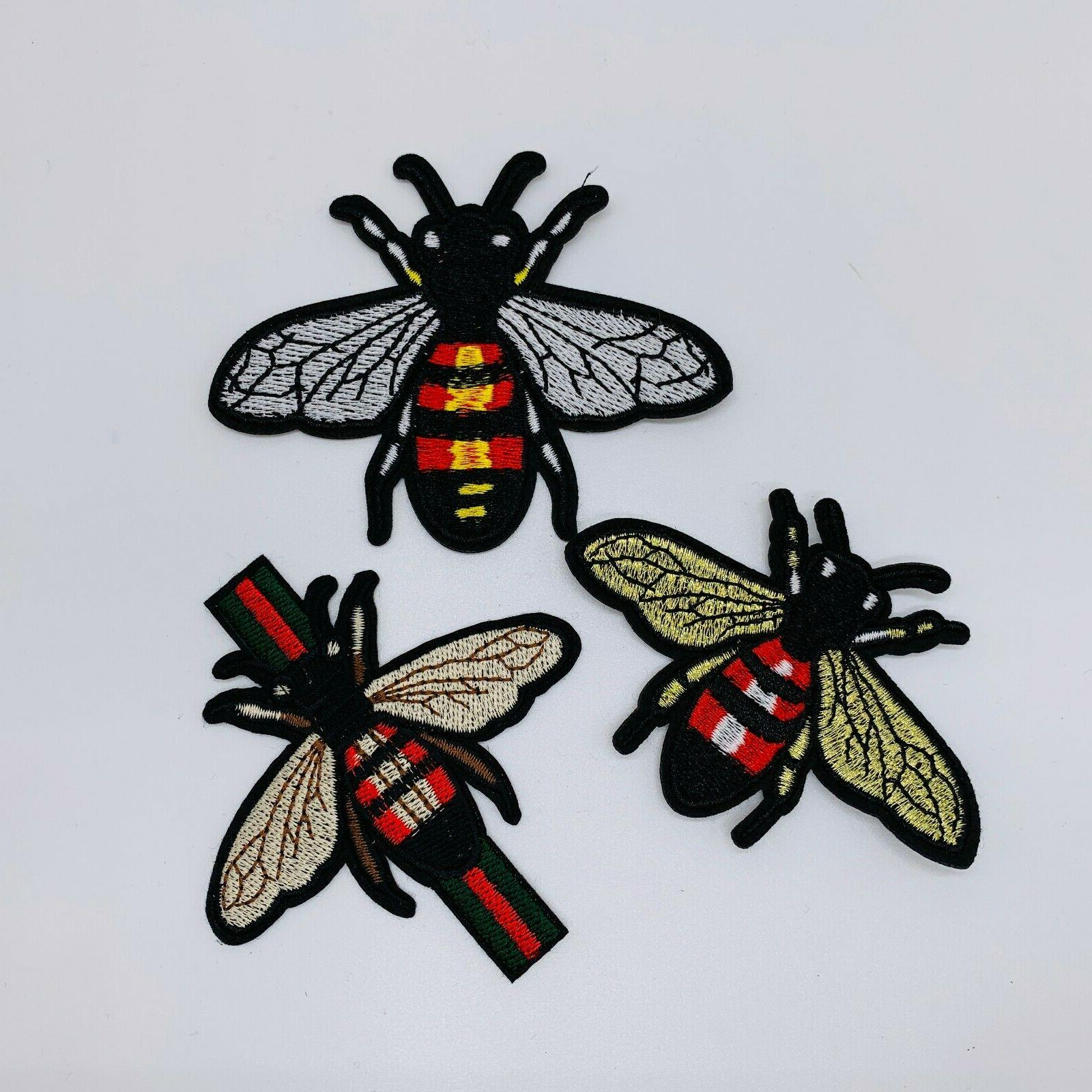 10pcs On Patch Gucci Patches On Badge Wasp