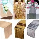 """12"""" x 72"""" Sparkly Sequin Table Runner Tablecloth Birthday We"""
