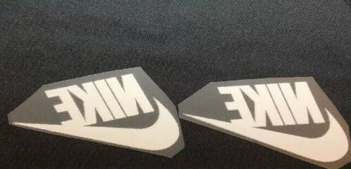 2 nike white iron on logos 2