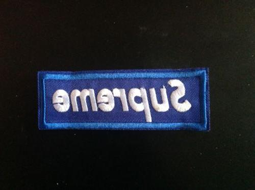 """4.5"""" SUPREME PATCH Embroidered FREE SHIPPING USA SELLER!!"""