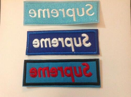 """4.5"""" 1.75"""" Bright Red DIY On Applique Patch"""