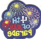 """""""4TH OF JULY PARADE"""" IRON ON PATCH/Patriotic,Celebration,Mil"""