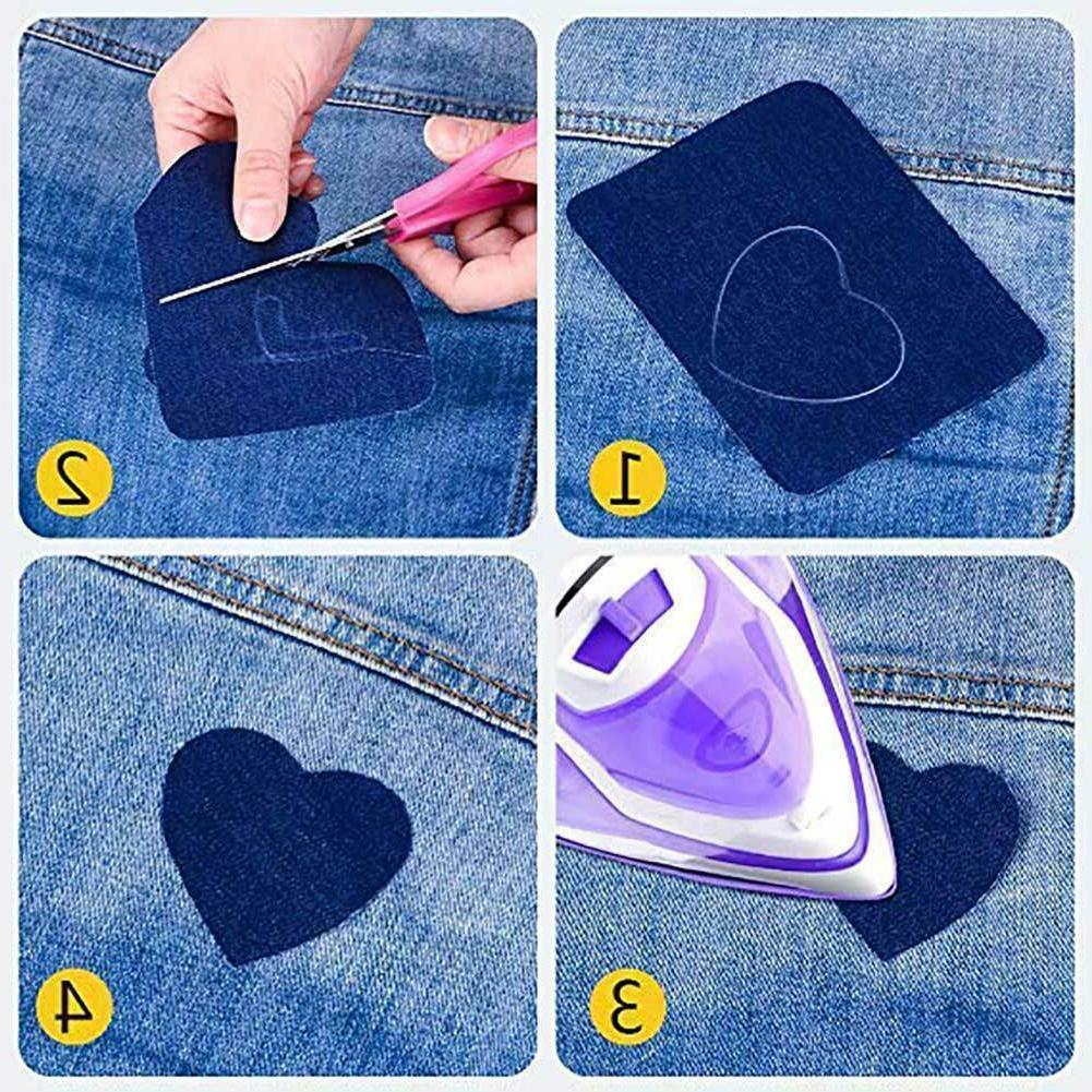 5 Colors DIY Iron on Fabric for Clothing Kit