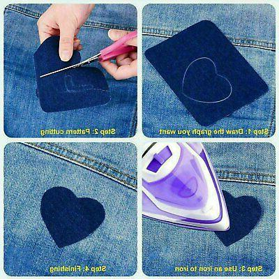5 on Denim Fabric Patches for Kit(20pcs )