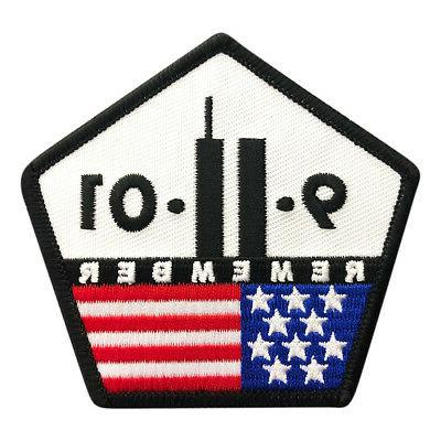 9 11 remember twin towers embroidered iron