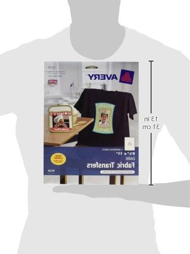 "Avery T-Shirt Transfers, Matte, 8.5"" 5 your Own Shirt , White"