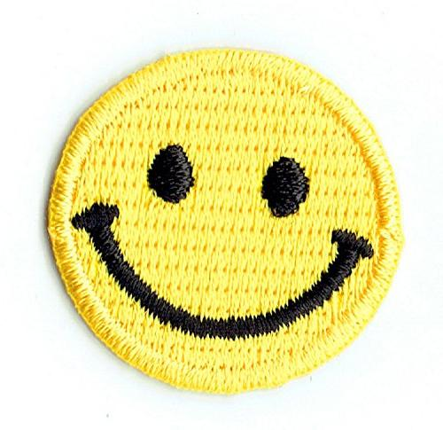 """""""DENTAL SMILEY"""" embroidered on PATCHES for cap, jacket, T-Shirt, jeans, backpack FREE and gift CUBE"""