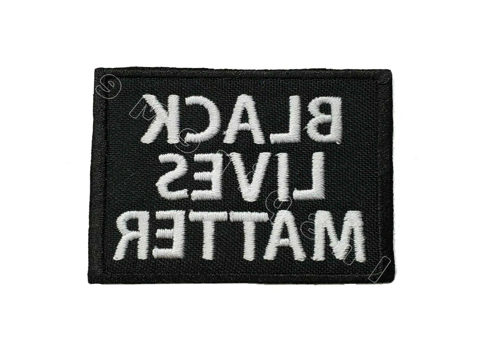 black lives matter embroidered sew iron on