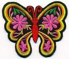 Butterfly insect boho hippie retro '70s design applique iron