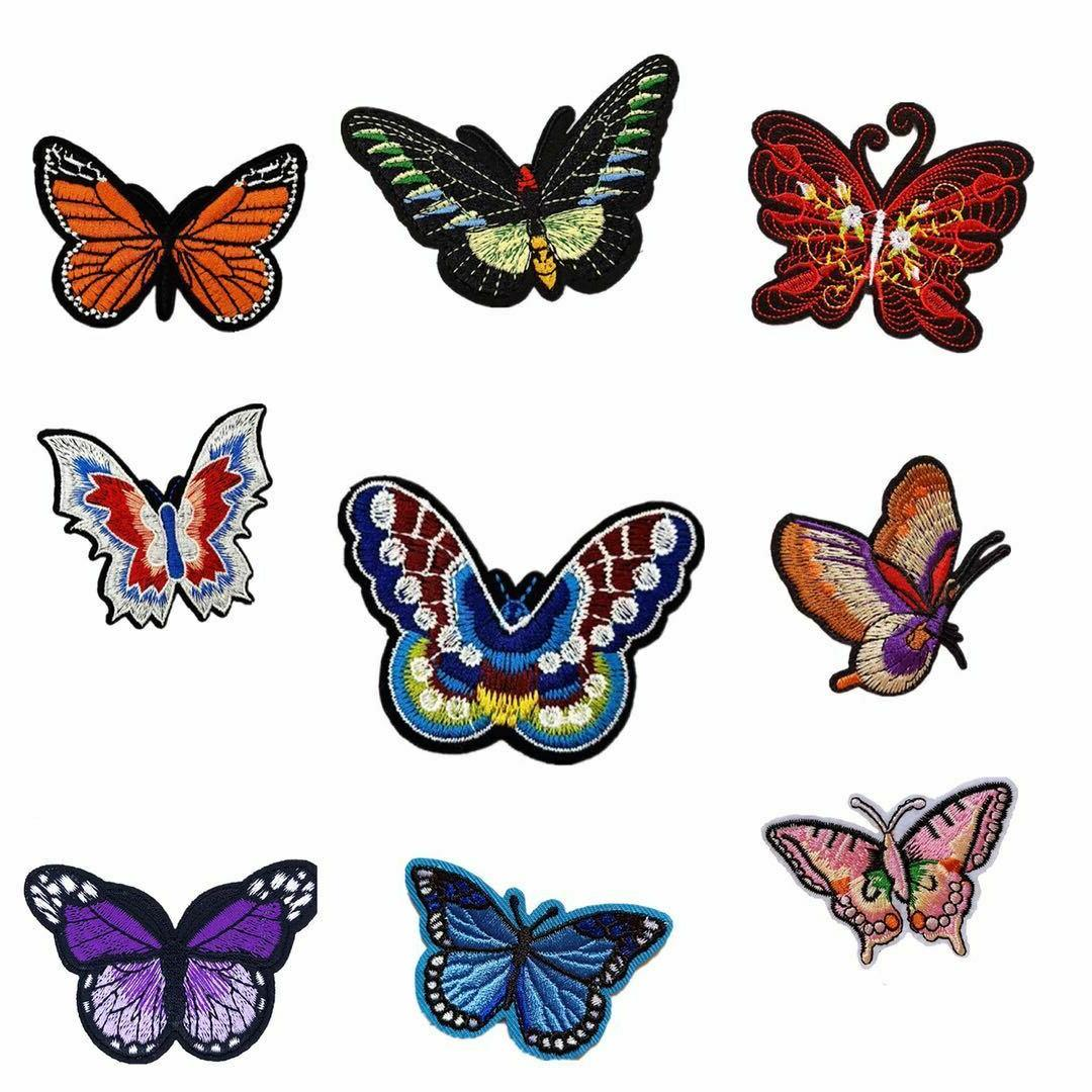 butterfly iron on embroidered patches sew applique