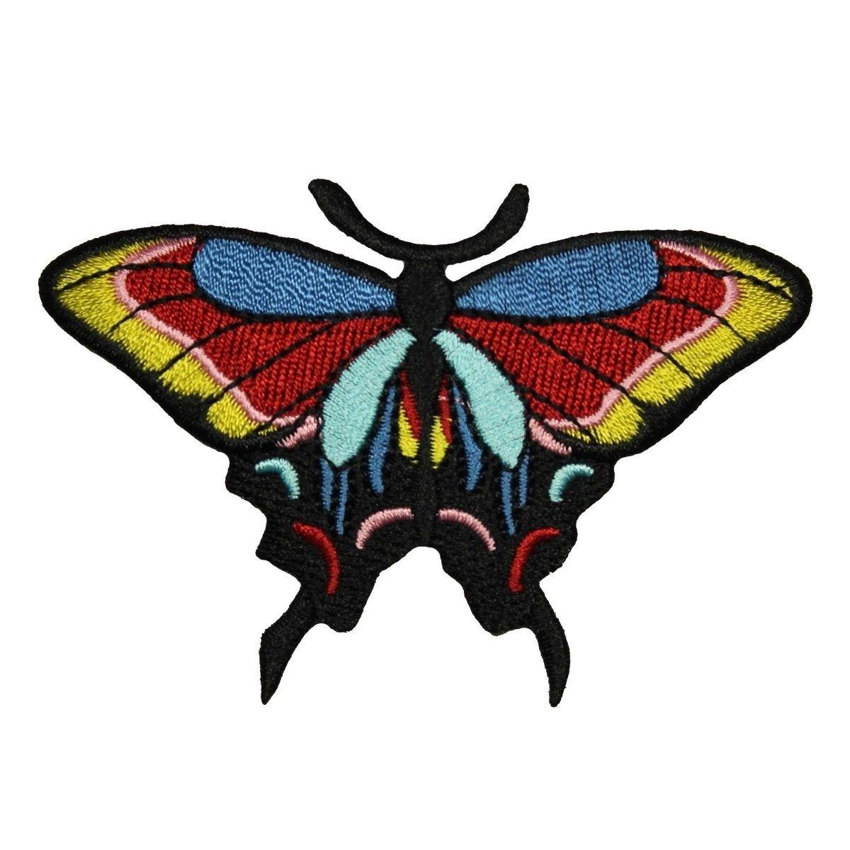 butterfly patch multi color flying moth insect