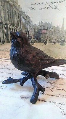 Cast Iron Bird on Branch Looking Straight Home Decor Vintage