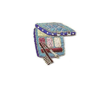 cosmetics collection eye shadow blue embroidered iron