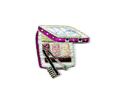 cosmetics collection eye shadow raspberry embroidered iron