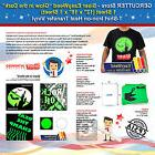 SISER EASYWEED GLOW IN THE DARK,1 SHEET  T-SHIRT IRON-ON TRA