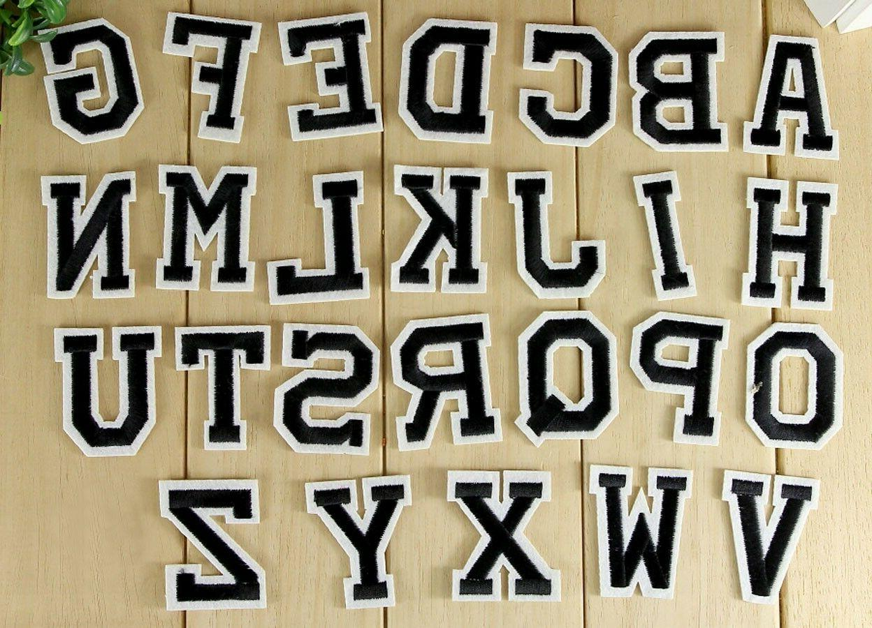 embroidered iron on patch alphabet letters your