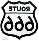 EVIL ROUTE 666 EMBROIDERED PATCH - JOKE HIGHWAY ROAD SIGN 66